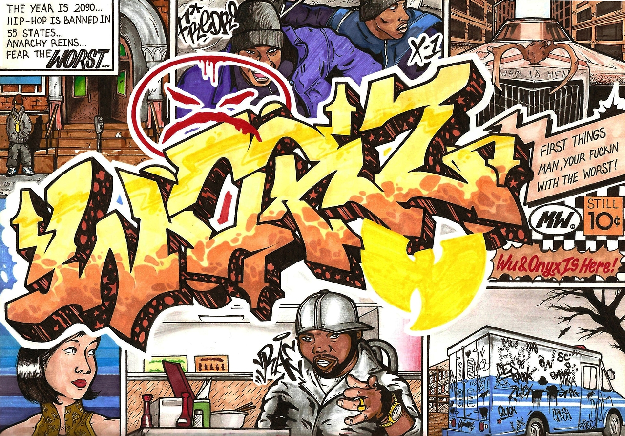 "mrwallcrew :      Dok / Exchange with Wors / Onyx feat. Wu-tang ""Worst"" / 2013"