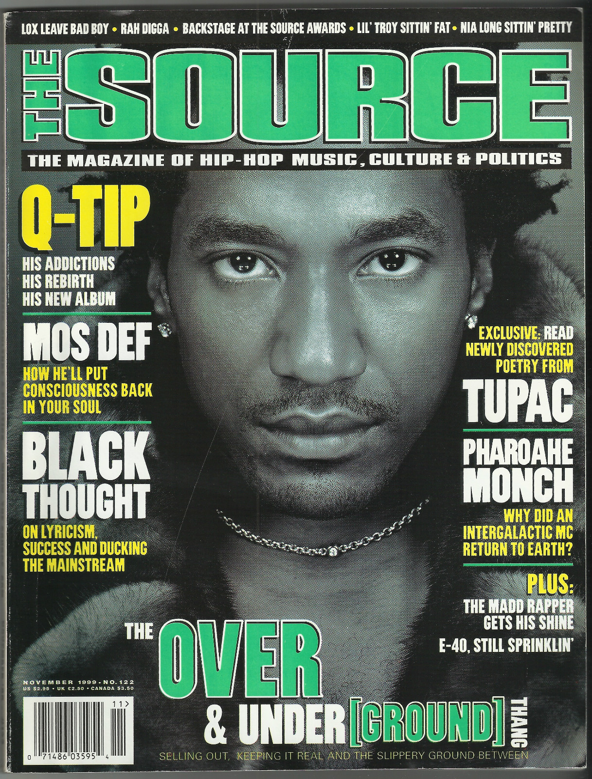 westcoastchris :     Q-Tip, The Source Magazine, November 1999