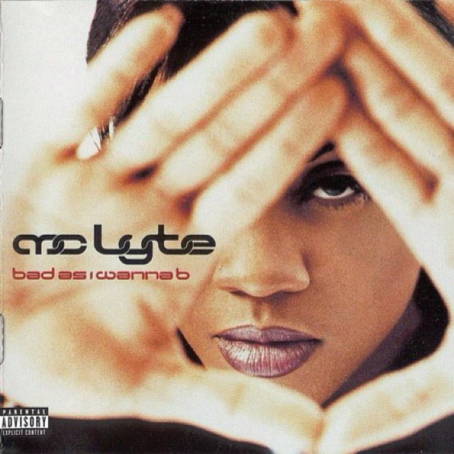 Cover for #BadAsIWannaB - 5th album from #MCLyte released August 27, 1996 for EastWest Records, produced by #JermaineDupri #RashadSmith #CarlSoLowe #RKelly #Goldenboy #MCLyte and #NatRobinson #happybirthdaymclyte