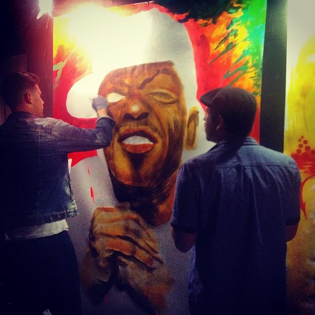 djadam12: Live painting at AFEX #methodman (at AFEX - 1611N. EL CENTRO AVE)