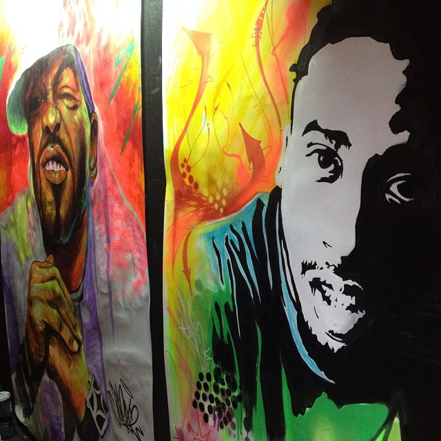 eye-excel: Last night. #WuAfex #murals #MethodMan #ODB #WUTANG shout out @djadam12