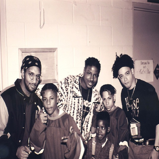 Chris to the 4th power! Kid-N-Play pose with kid rap duo Kriss Kross … #KidNPlay #ChristopherMartin #ChristopherReed #Bronx #Queens #HouseParty #classichiphop #krisskross #chriskelly #chrissmith #macdaddy #daddymac
