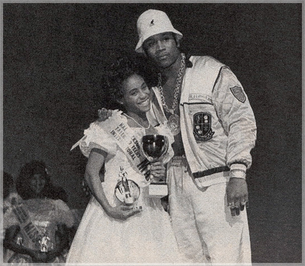 funkadelicsoul :      16-year-old dancer Jada Pinkett was the first runner-up at the 18th annual Hal Jackson's Talented Teens Pageant held in Chicago in 1988. Rapper LL School J presented Jada with her trophy. Jada, who represented her hometown of Maryland, went on to become a well-known actress and future wife of superstar actor Will Smith. The pageant winner, Kiya Winston of Chicago, faded into obscurity.