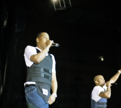 aintnojigga :     Jay-Z and Dame Dash performing as the opening act on Puff Daddy's 'No Way Out' Tour at Madison Square Garden on December 4th, 1997. The tour was one of the biggest ever for hip-hop, with The Firm, Busta Rhymes, Ma$e, 112, Lil' Kim, and Usher all on the bill alongside Jay.   Hov only performed a few shows on the tour, quitting the day after his birthday performance in NYC. He claimed he had been treated unfairly by the tour's promoters after a set he was performing suffered technical problems that no one cared enough to repair, and then his birthday homecoming performance was cut short to less than twenty minutes without explanation.