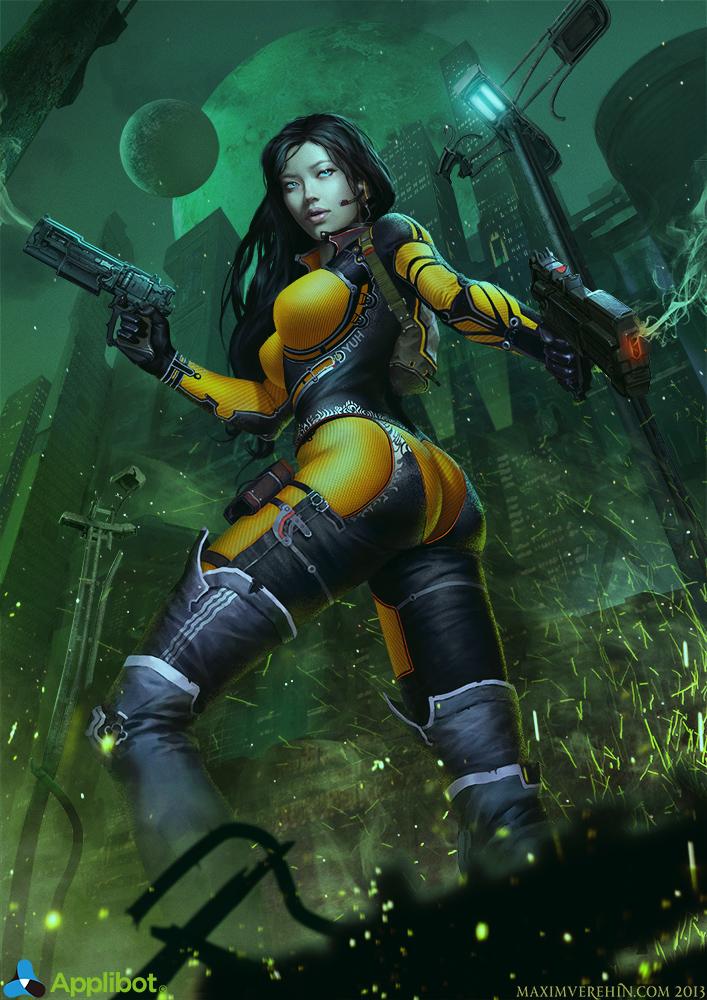 fantasy-scifi: Gunner_Normal by ~Verehin
