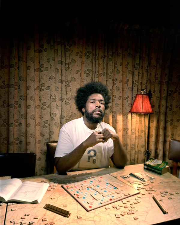 adaminglis :     Questlove playing scrabble.