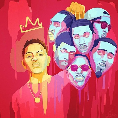 hip-hop-lifestyle :      giftedwildlife :     King Kendrick by @andre_barnell     lol chiiiiiill