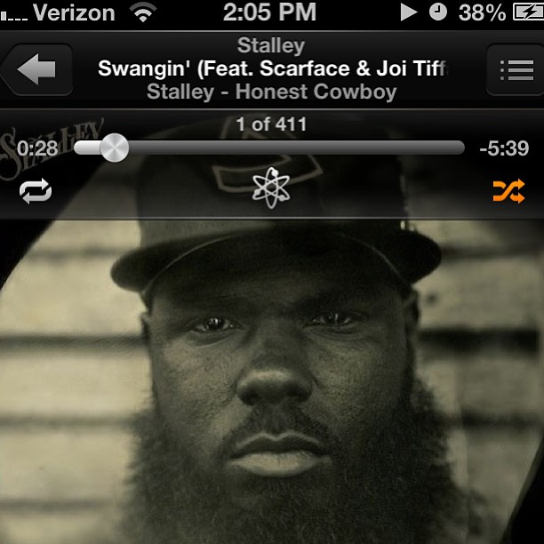 milelong: I'm all over this album! @stalley #swangin #scarface #honestcowboy #goodmusic #rap #music #mixtapes