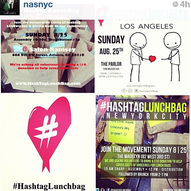 Help feed the homeless! For more info —> @hashtaglunchbag