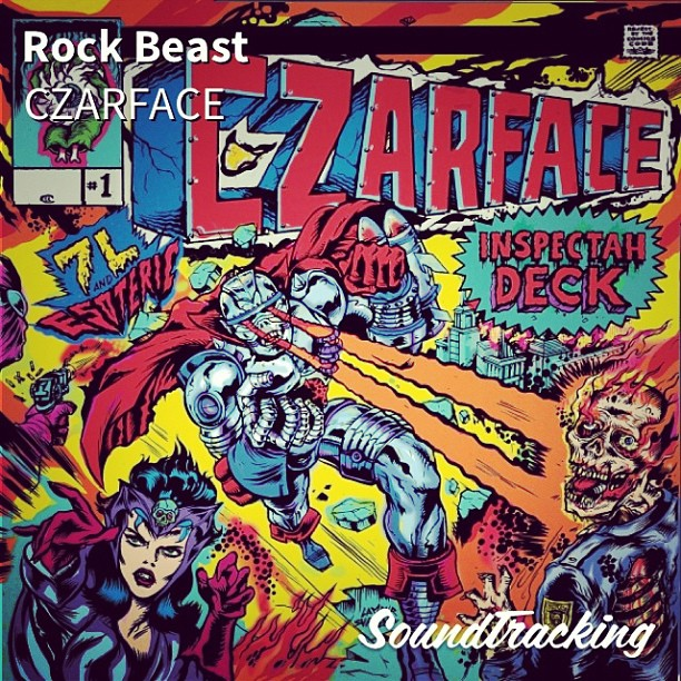 "gaboo3stacks: #nowplaying forgot how good this album is ! #inspectahdeck jumping the gun on #wuwednesday ♫ ""Rock Beast"" by CZARFACE 