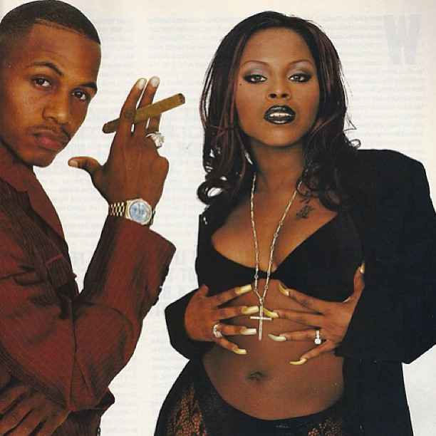 Two-thirds of #TheFirm #AZ #FoxyBrown #tbt