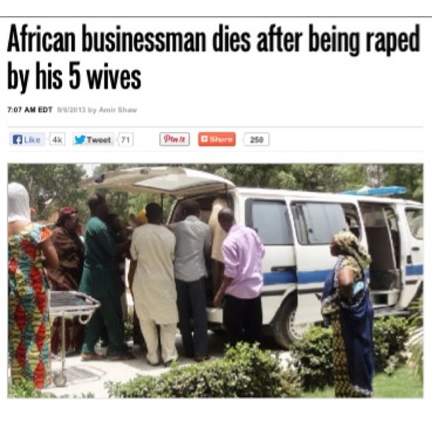 African businessman dies after being raped to death by 5 wives!!