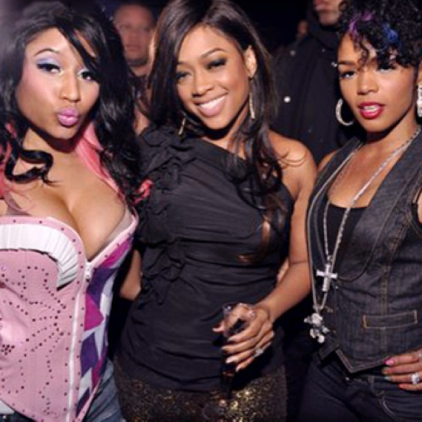 #Trina with #NickiMinaj & #Rasheeda of #LAHHATL
