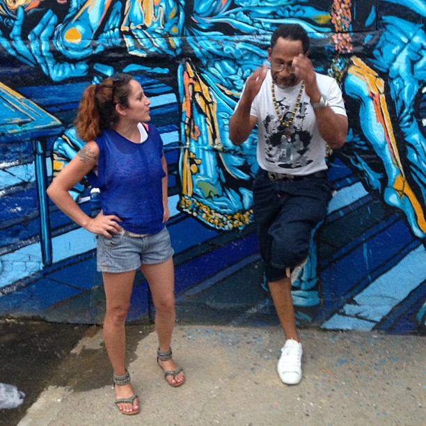 feverize :     Lol trying to explain where our wall is #koolherc #ladykfever @ladykfever #Jerms @DJJS1 @pazroc #topaz #fivepoints #fortyyearsofhiphop       http://hiphopsmithsonian.com/kool-herc-bio