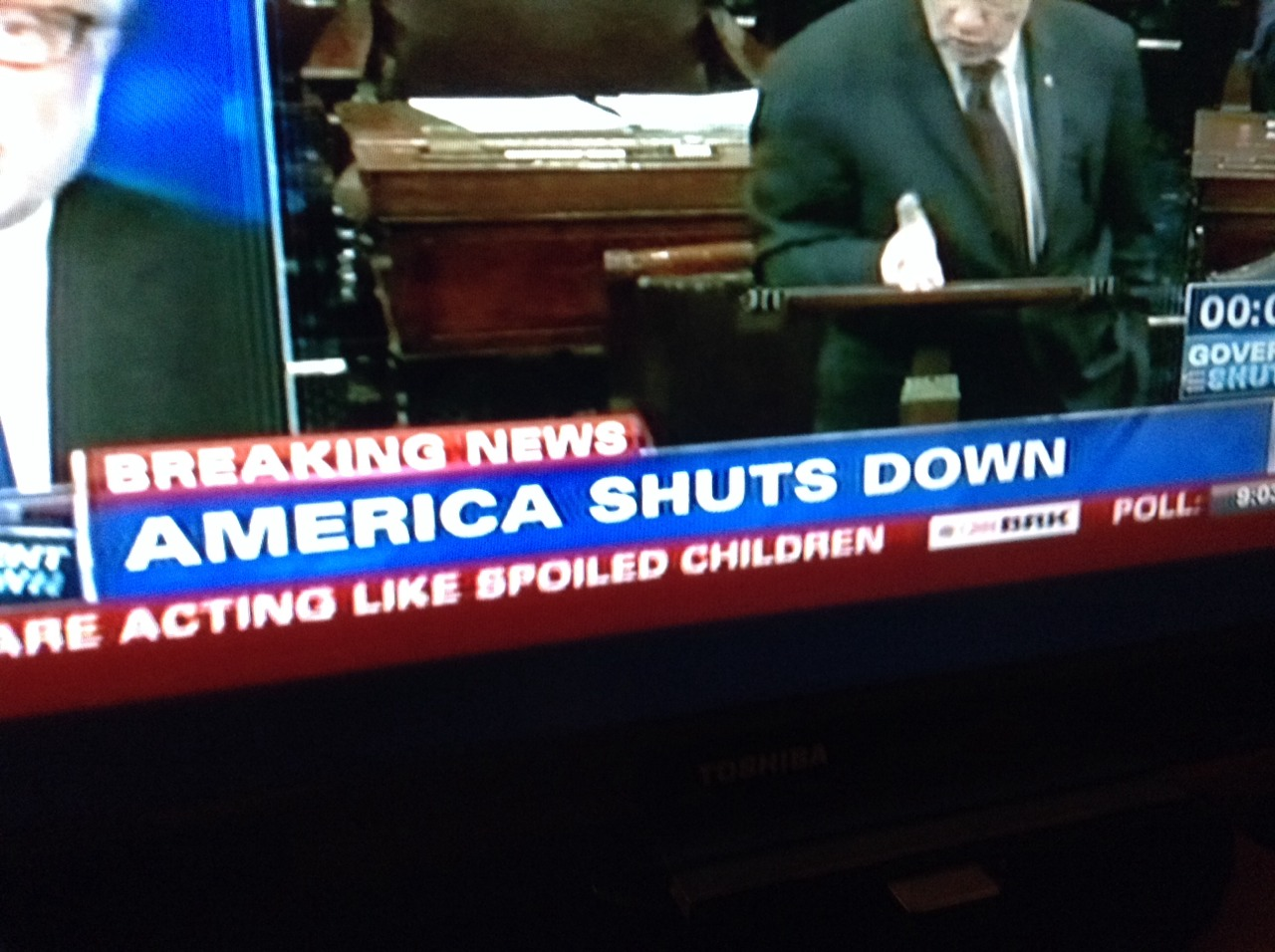 wrote-miss-ibis: pleasetrysomethingelse: BREAKING: America shuts down The subtitle though