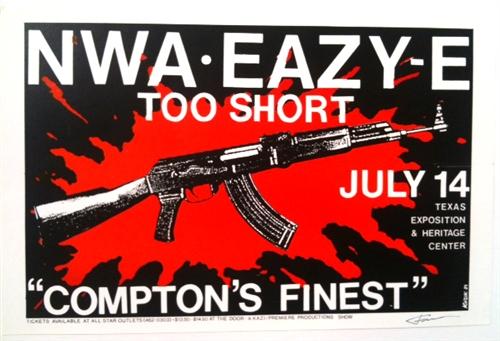 taintedvisions :       NWA Eazy E & Too Short Concert Poster - Frank Kozik