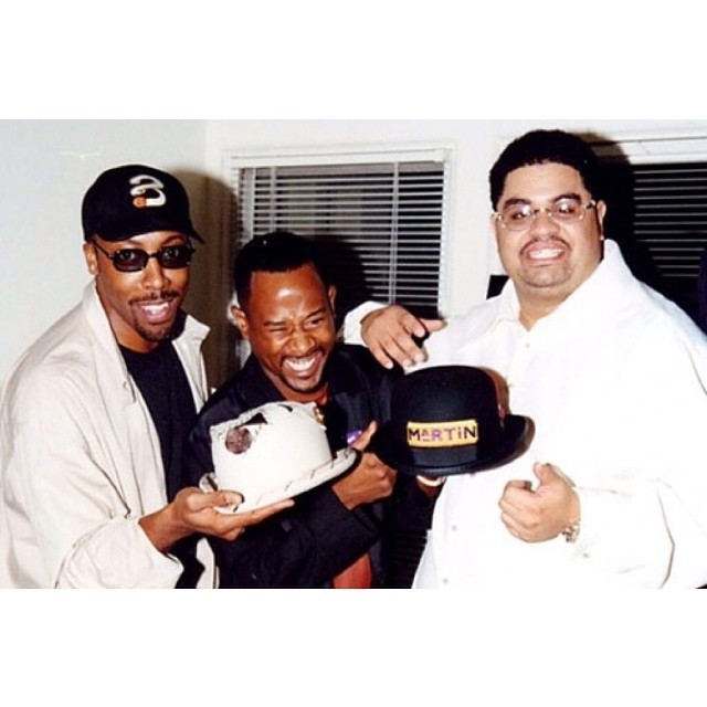CLASSIC!! Arsenio Hall & Martin Lawrence with the one & only Heavy D .. #arseniohall #martinlawrence #heavyd #overweightlover #ripheavyd #legends #hiphoplegends #hiphopbio #hiphoproyalty