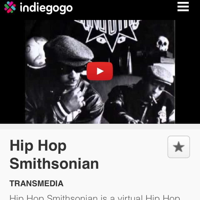 Please help us reach our #funding goal by contributing and/or sharing our #indiegogocampaign !! Peace & Blessings #indiegogo #startup #contribution #hiphop http://www.indiegogo.com/projects/hip-hop-smithsonian