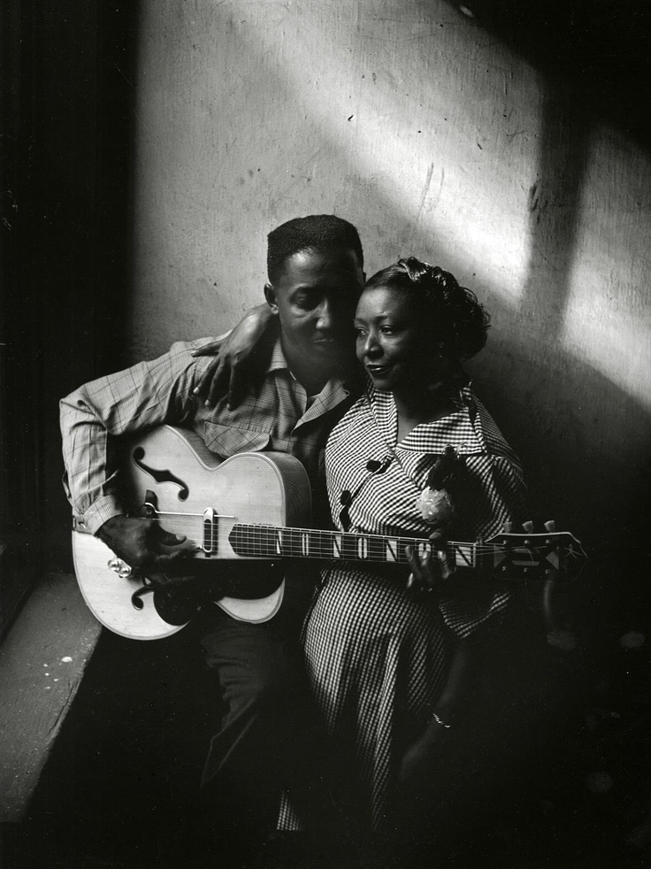 blackhistoryalbum :     Muddy Waters and his wife Geneva in Chicago (1951) | Photographer: Art Shay ©   Follow Us On  Twitter  |  Facebook  |  Flickr  |  Pinterest