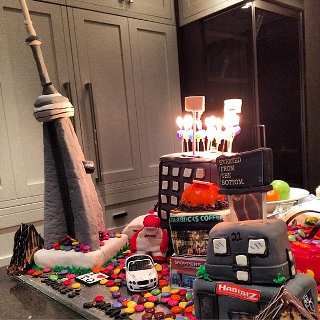 Drake's eclectic birthday cake showcases his love for #Toronto … #Drake #Drizzy