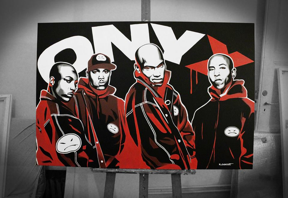real-hiphophead :     Super dope painting of ONYX