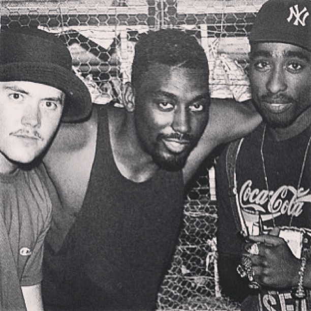 underground-hip-hop-affiliated: makavelliscolonel: Tupac & DJ Fuse can't forget Big Daddy Kane in the Middle.