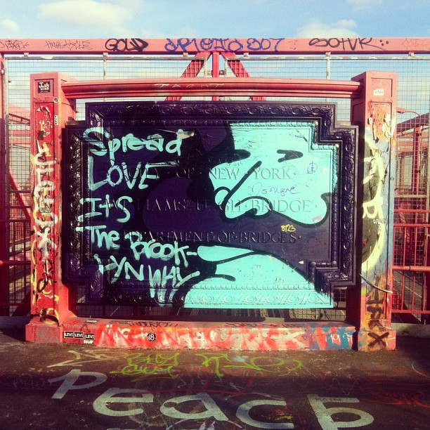 lady-birdseyeview :     Juicy #biggie #talibkweli #streetart #graffiti #williamsburg #bridge #nyc #lady_birdseyeview