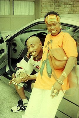 Tupac with mother Afeni Shakur