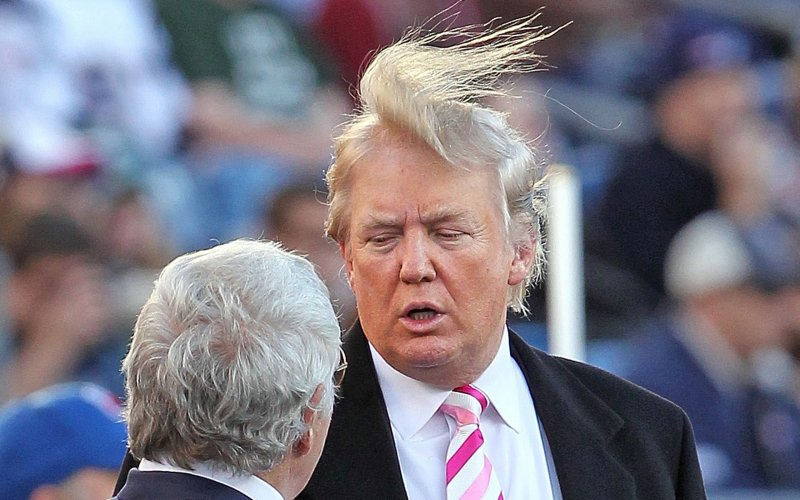As glorious as our commander-in-chief's hair is, it's not quite what we're going for.