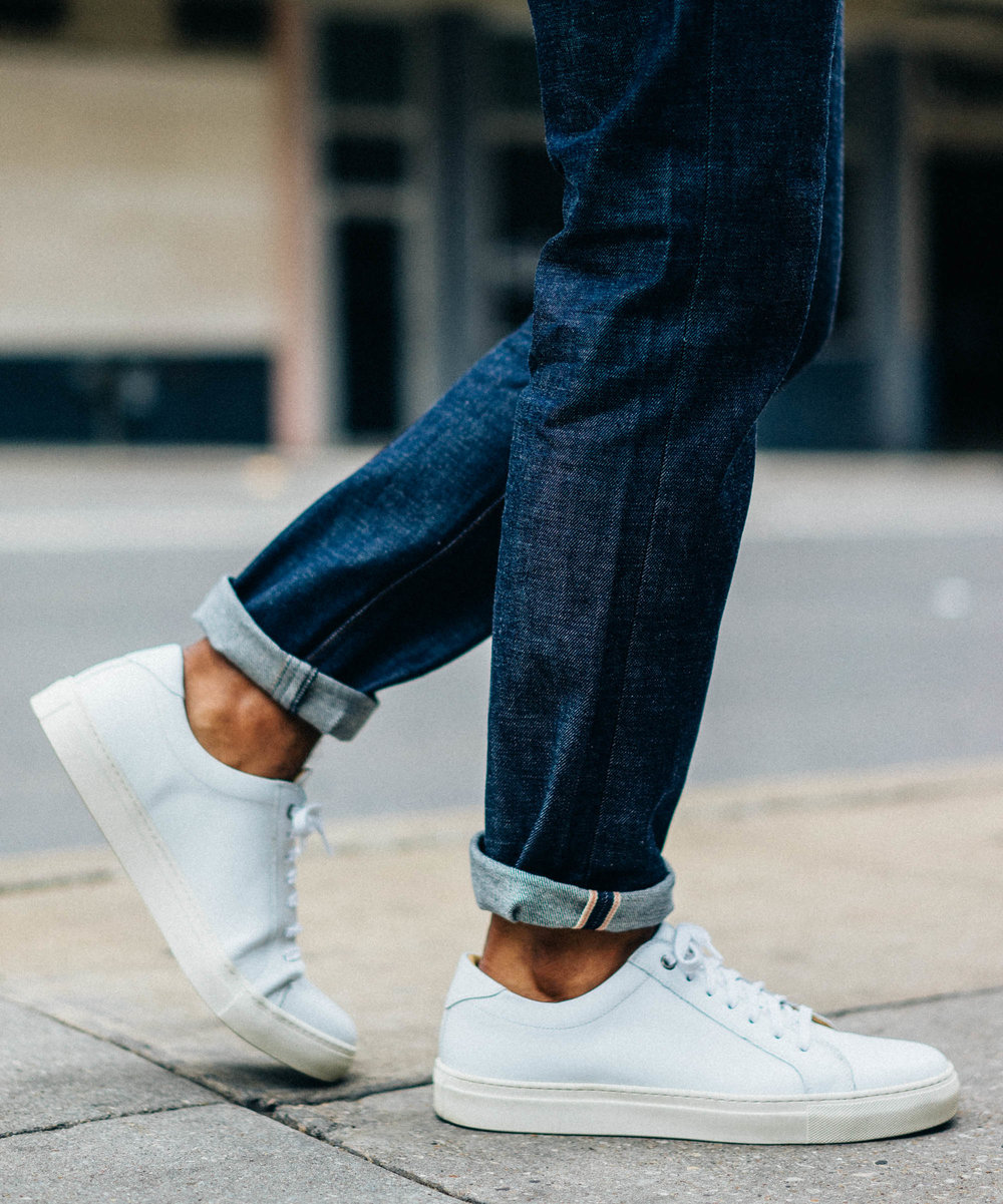 For my first look in them, I couldn't resist pairing them with a fresh pair of minimal white sneakers.