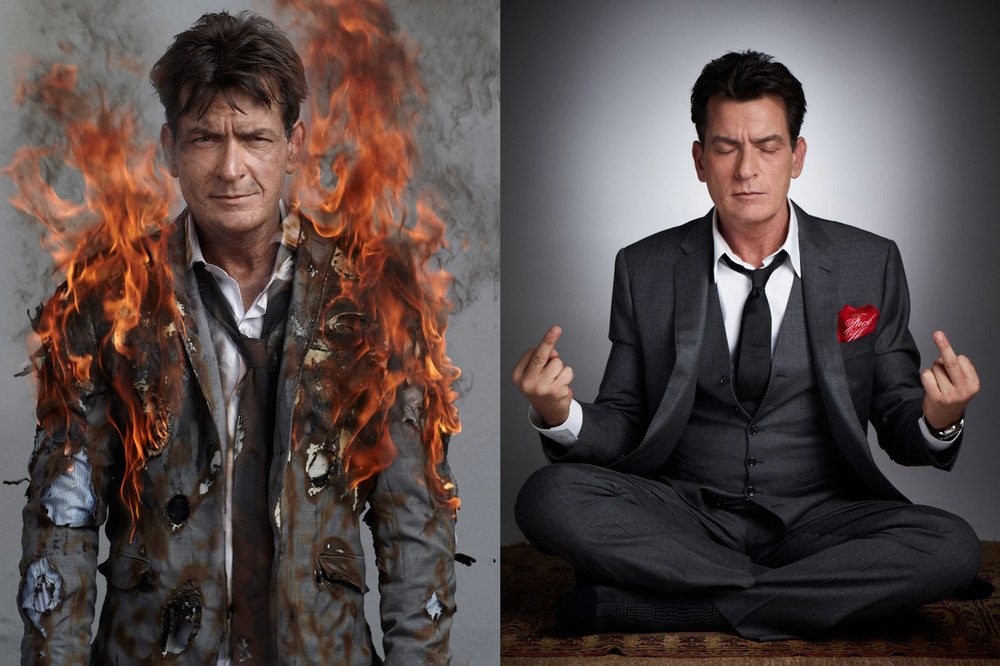 Charlie Sheen for Newsweek