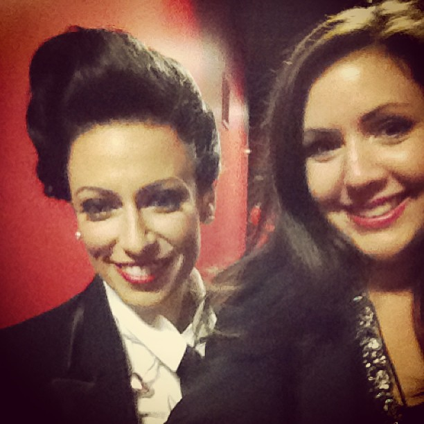 The amazing Miss Zenya and I on our way to the stage