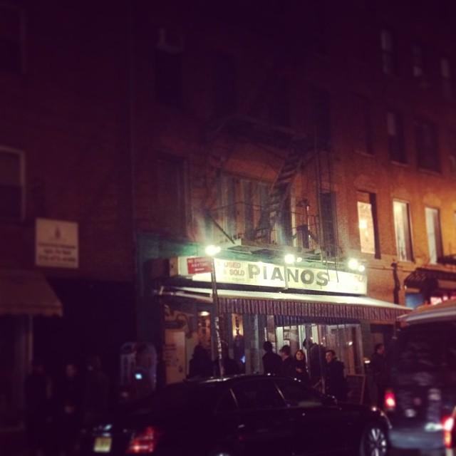 Ol' faithful Pianos on Ludlow street