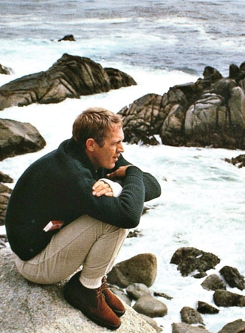 McQueen loved his thick-knit cardigans, this fisherman style is classic.