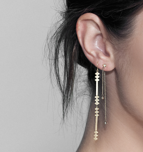 products with diamonds line earring the rod earrings full short small champagne