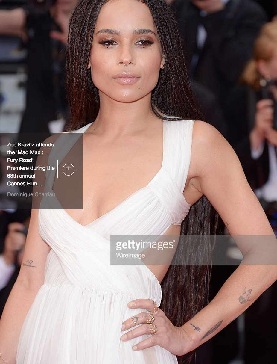 MAD MAX PREMIERE IN CANNES  ZOE KRAVITZ  AZLEE RINGS