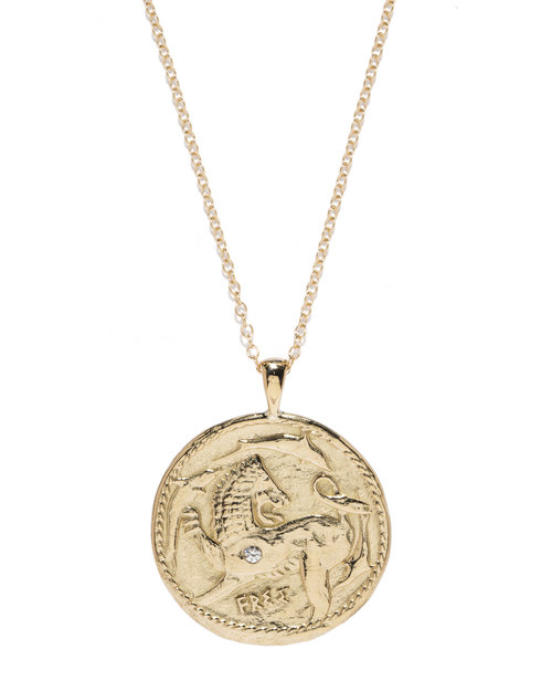 Animal kingdom diamond coin necklace azlee jewelry animal kingdom pendantg mozeypictures Images