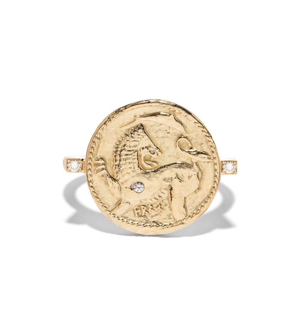 Azlee Animal Kingdom diamond & yellow-gold ring NUxtSuv