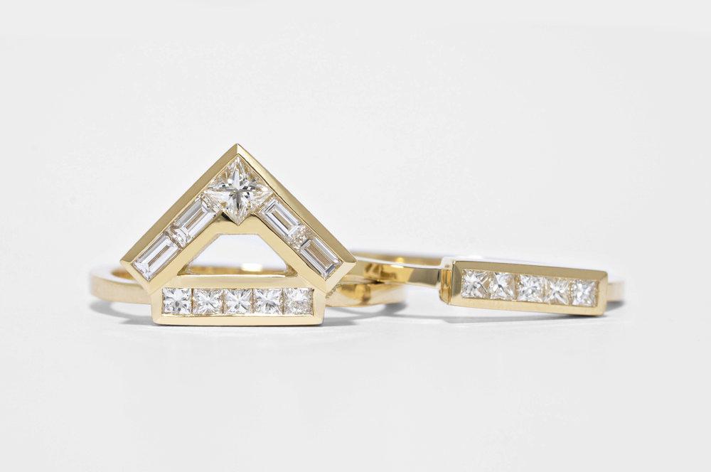 Glow Diamond Ring & Band