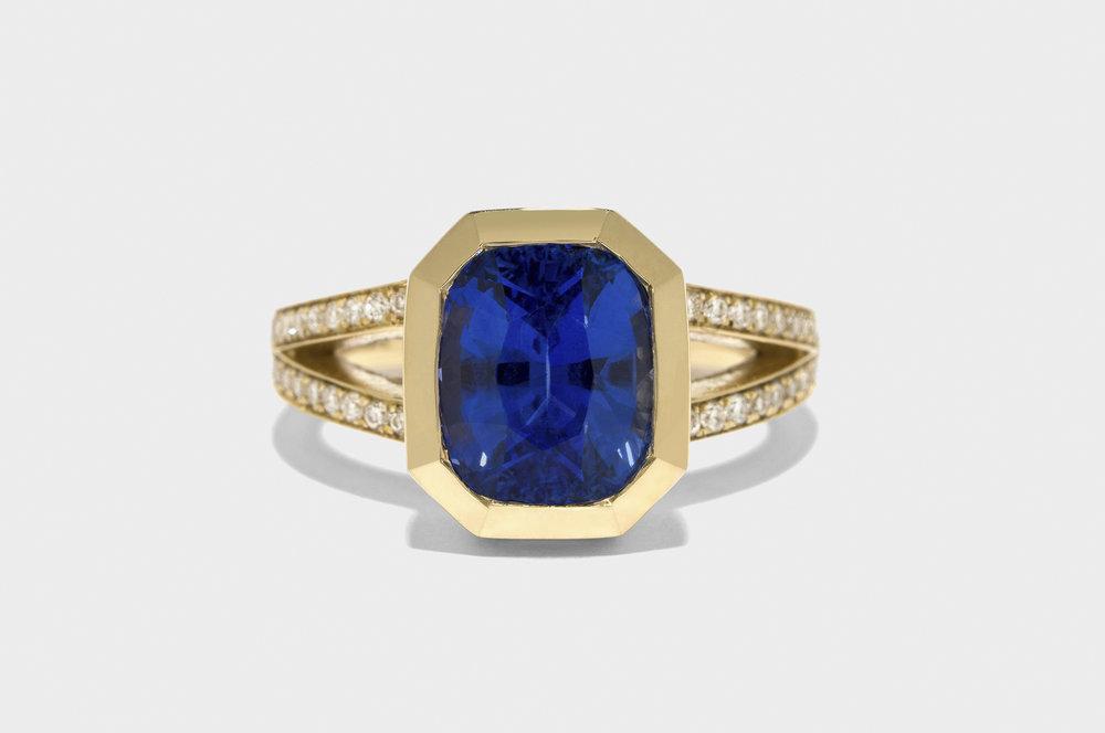 Re-set Sapphire Diamond Ring