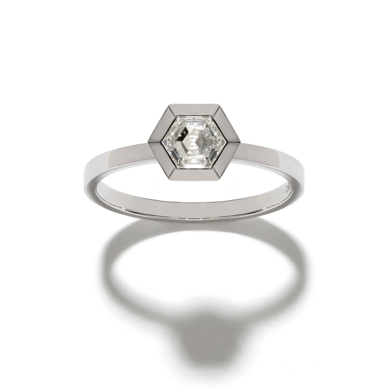 a4cdff3ea81c5 Hexagon Diamond Ring — AZLEE JEWELRY