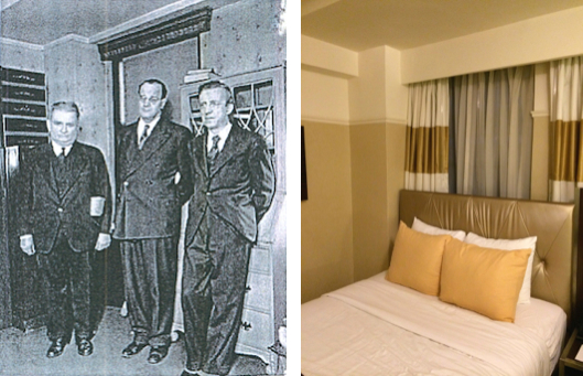 Nikola Tesla's Room 3327 at  The New Yorker Hotel  - January 1943 (Left) and September 2014 (Right)