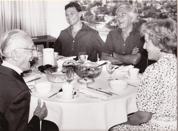 With Jacques Cousteau, Bob Hawke and Hazel Hawke