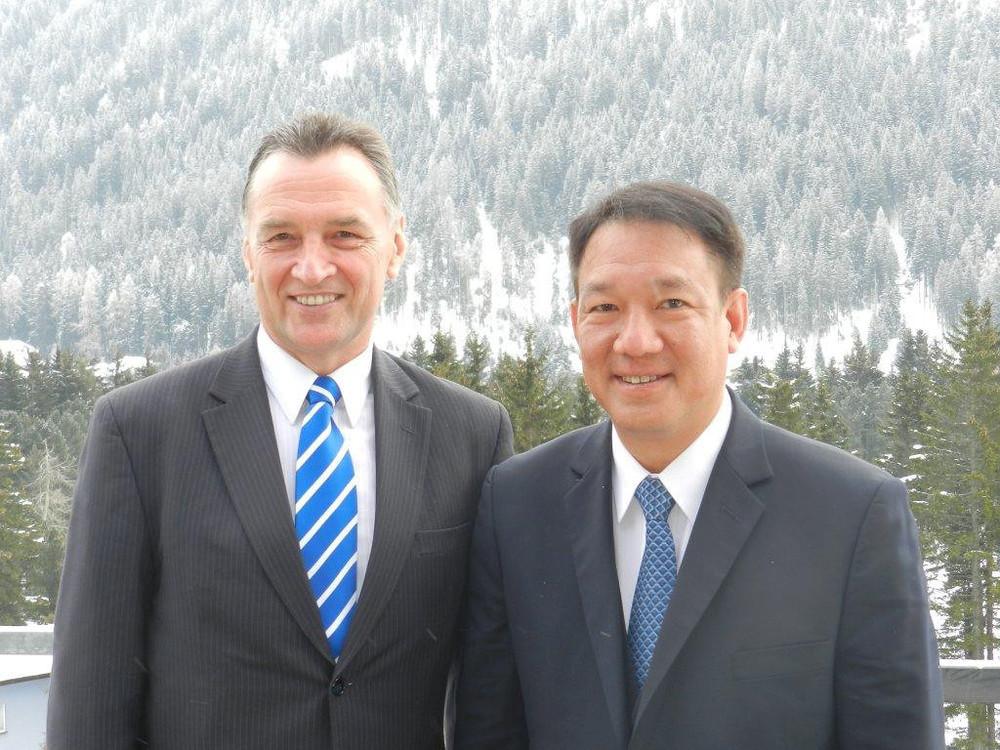 With Thai Deputy Prime Minister Kittiratt Na-Ranong