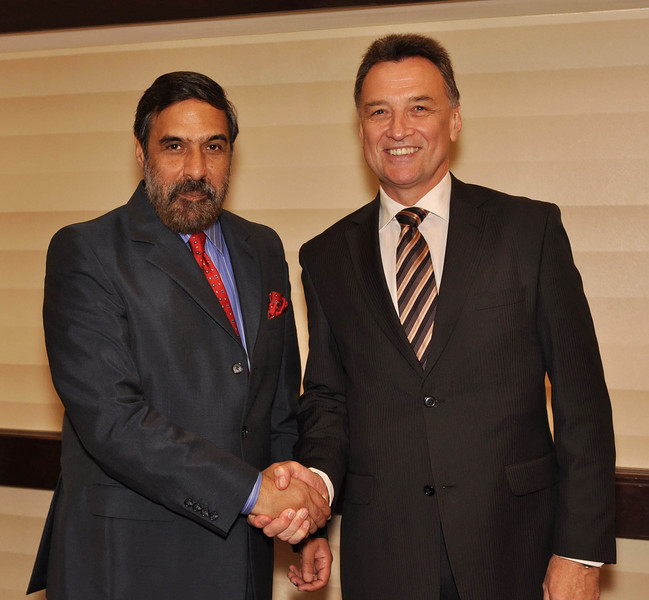 With India's Commerce Minister Anand Sharma
