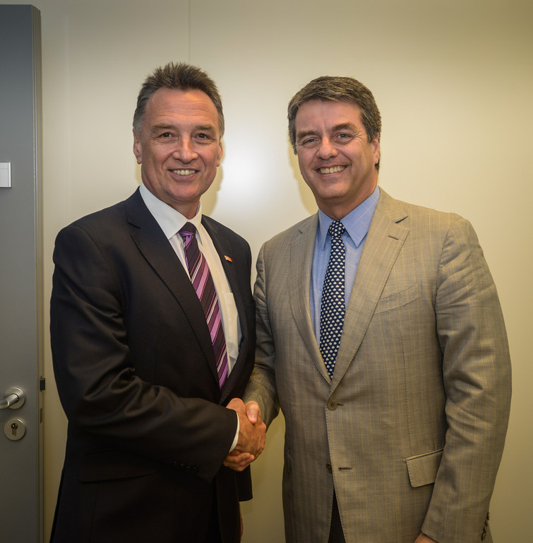 With WTO Director-General Roberto Azevedo