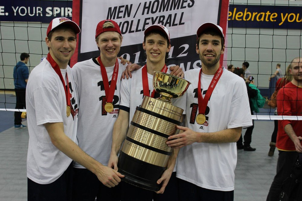 2012 CIS National Champions (Rudy, Marc, Ben and Jarrod)