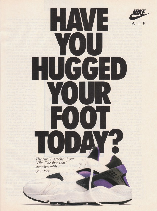 - Original 1992 Nike Air Huarache advert
