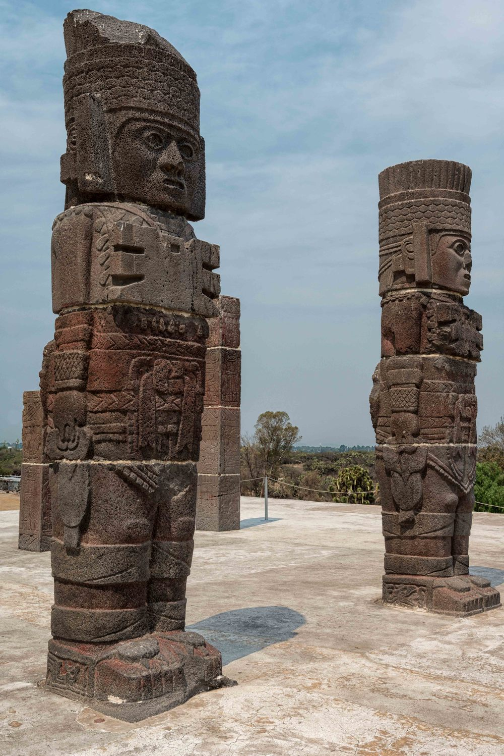 Columns in the form of Toltec warriors in Tula.