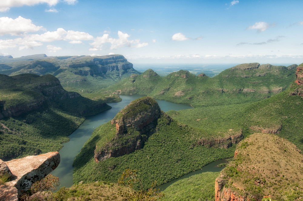Blyde River Canyon is one of the largest canyons on Earth.
